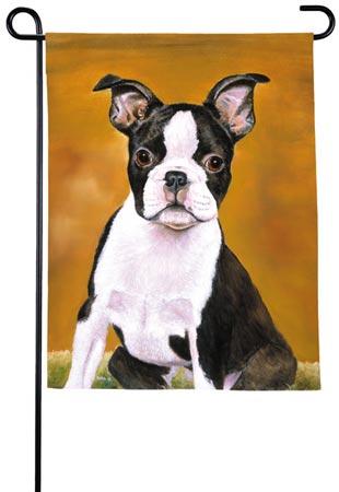 Charming G51 Boston Terrier. G5 Cat Butterfly Flag